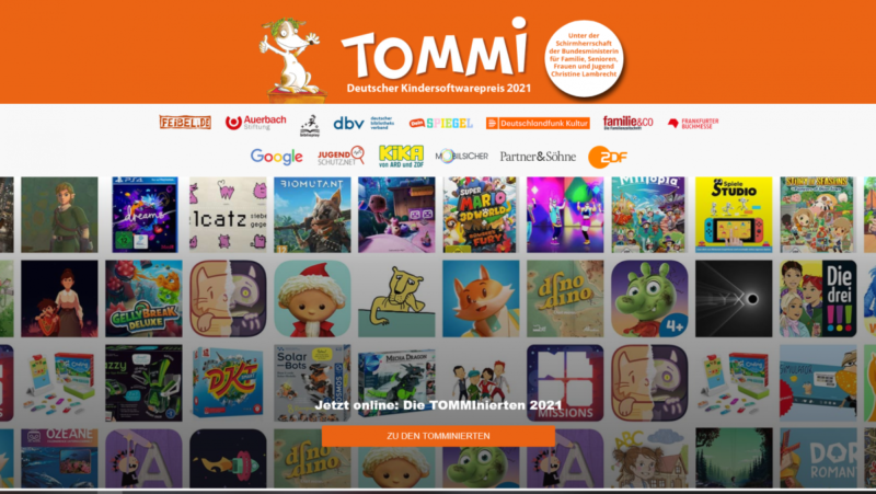 TOMMI: German Children's Software Award 2021 shows strong trend towards co-op games