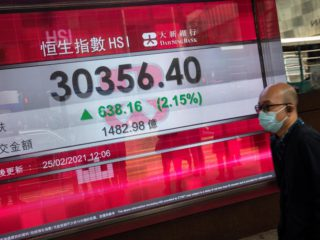 The Hang Seng falls 1.84% weighed down by casinos, real estate and industrial