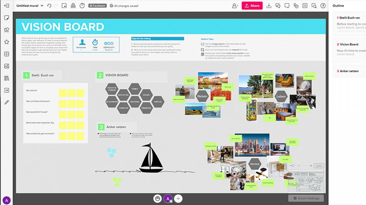 Whiteboard web app put to the test: Clever collaboration with Mural