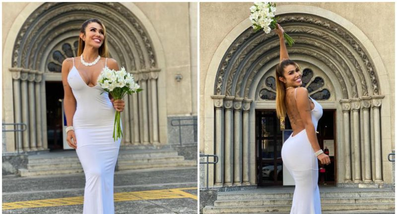 """""""I will never divorce"""": a model marries herself to celebrate """"self-love"""""""