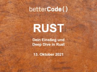 betterCode () Rust: Get your early bird discount now