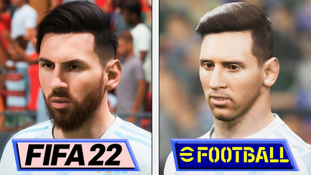 eFootball 2022 vs FIFA 22: graphical comparison with animations, physics and more