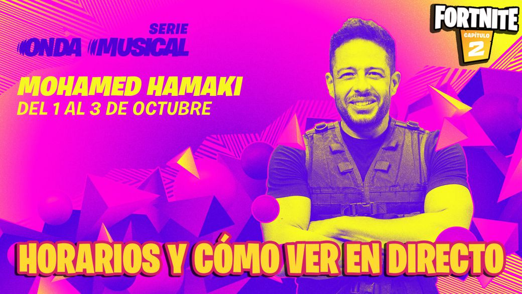 Musical Wave concert by Mohamed Hamaki in Fortnite: dates, times, and how to watch live