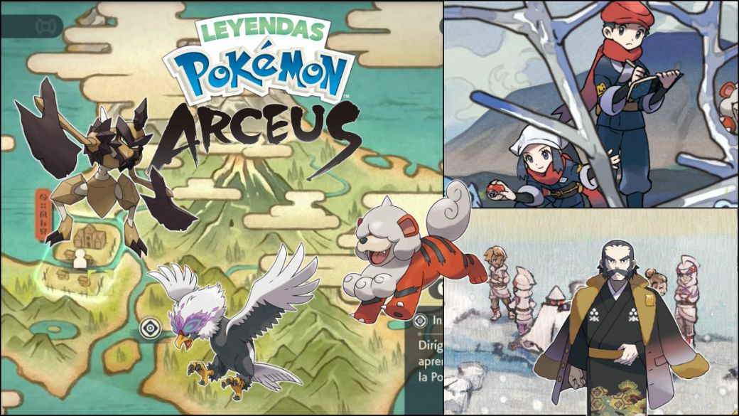 Pokémon Legends Arceus, what do we know about the Hisui map?  Zones and ecosystems