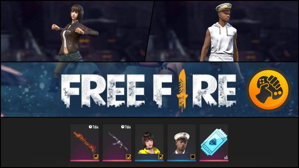 Free Fire: get free 10 exclusive codes with rewards (weapons, characters, diamonds ...)