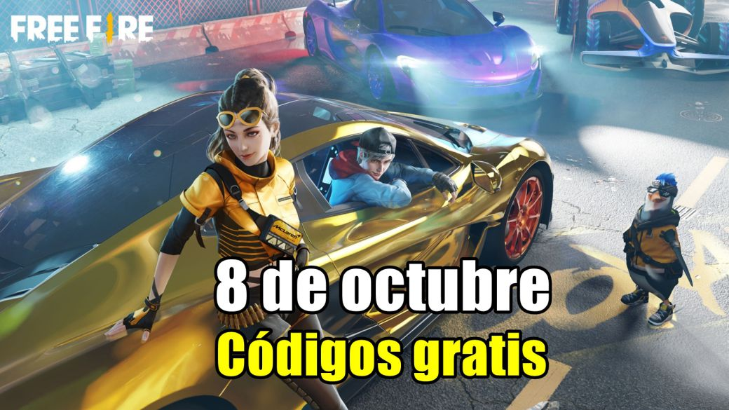 Today's Free Fire Codes October 8, 2021;  all free rewards