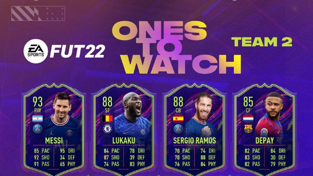 FUT FIFA 22: Ones to Watch team 2 revealed with Messi, Sergio Ramos and more