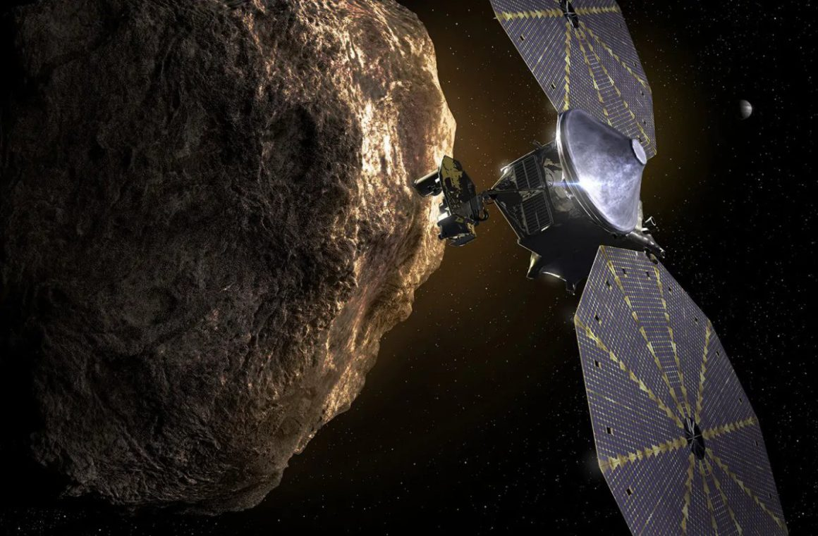 """With """"Lucy"""" a NASA probe flies to the Jupiter asteroids for the first time"""
