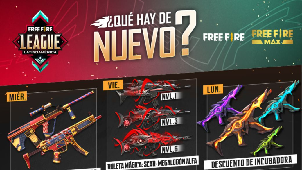 Free Fire: weekly schedule from October 13 to 19 with Diamond Royale and Evolutionary Recharge