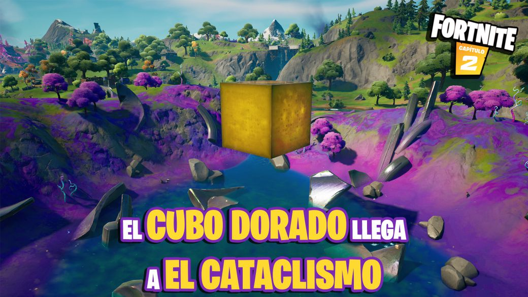 Fortnite: the golden cube arrives at the Cataclysm in the center of the island