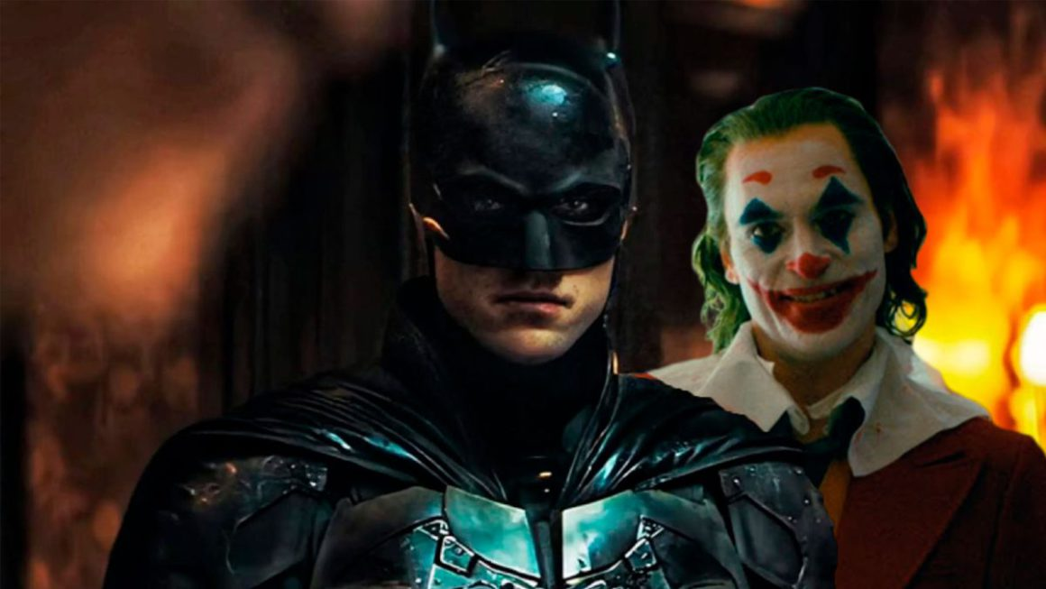 What would a crossover look like between Joaquin Phoenix's Joker and Robert Pattinson's Batman?  A fan imagines him after the new trailer for The Batman