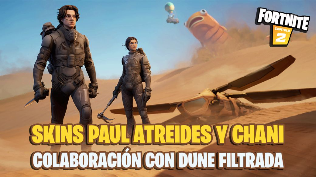 Dune comes to Fortnite;  Paul Atreides, Chani skins, new accessories and more