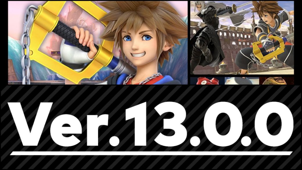 Super Smash Bros. Ultimate is updated to version 13.0.0;  Sora (Kingdom Hearts) arrives and more