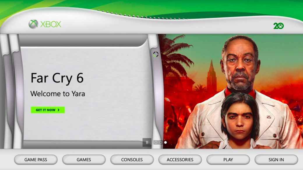 Xbox transforms its official website to the Xbox 360 style;  20th anniversary celebration