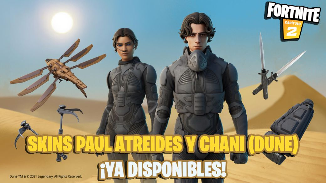 Fortnite: Paul Atreides and Chani (Dune) skins now available;  price and contents