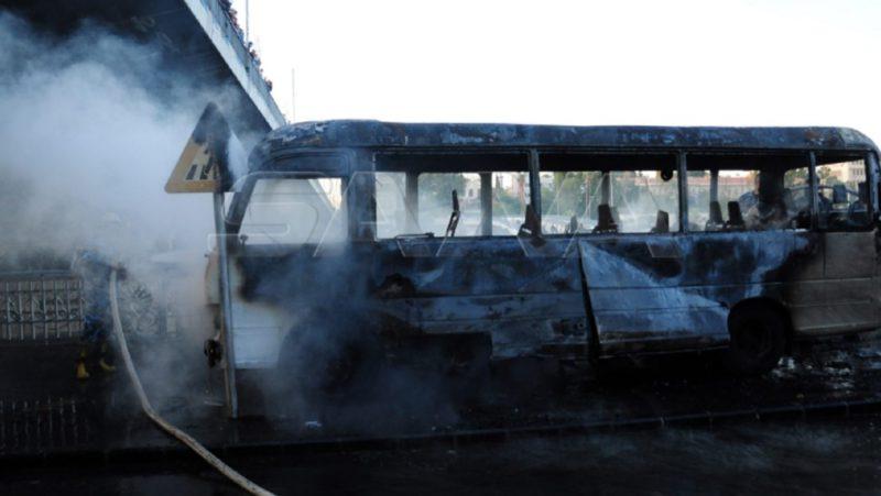 """Ataque """"terrorista"""" contra un autobús deja varios muertos y heridos en Damasco"""