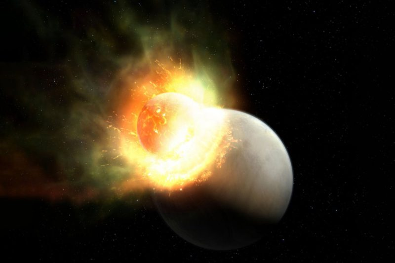 Astronomy: Remains of a gigantic collision between two exoplanets found