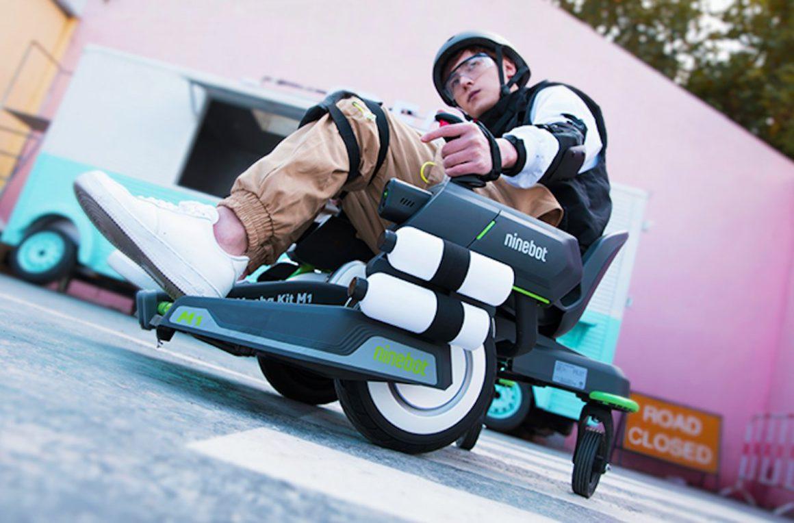Segway-Ninebot Mecha-Kit transforms scooters into four-wheeled fun vehicle