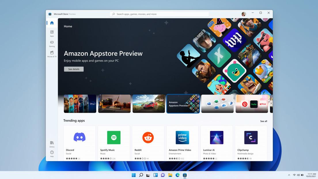 Microsoft lanza un 'software' que permite a los usuarios de Windows 11 utilizar aplicaciones para Android