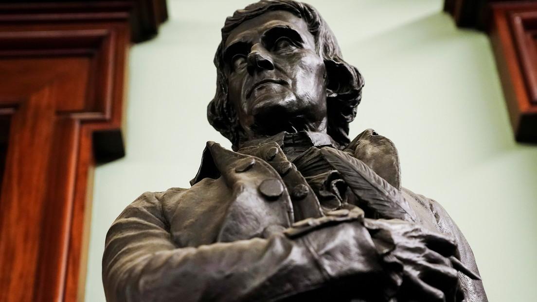 La estatua del expresidente Thomas Jefferson será removida del Concejo Municipal de Nueva York debido a su condición de esclavista