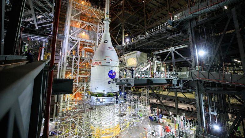 La NASA prepara el lanzamiento de un megacohete espacial no tripulado alrededor de la Luna