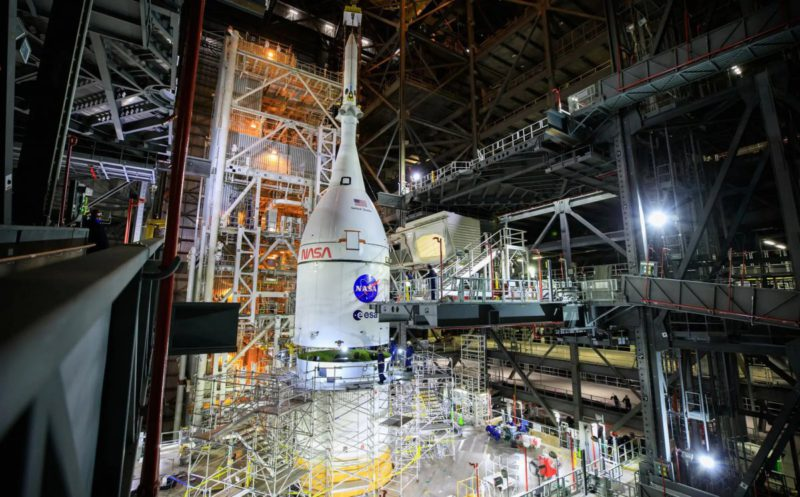 NASA giant rocket SLS is set to fly around the moon in February 2022