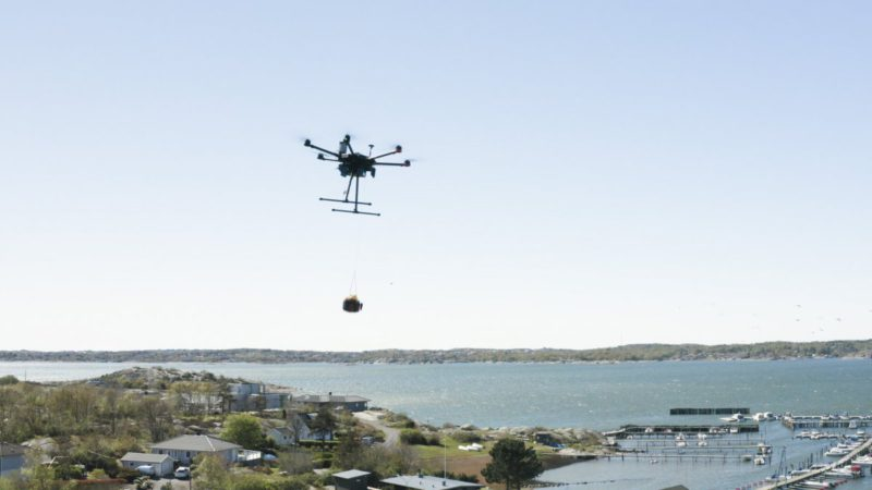 Delivery drone is controlled from a distance of 800 kilometers