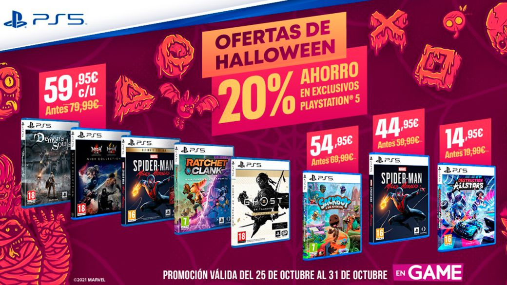 The scariest deals on PS5 exclusive games come to GAME for Halloween