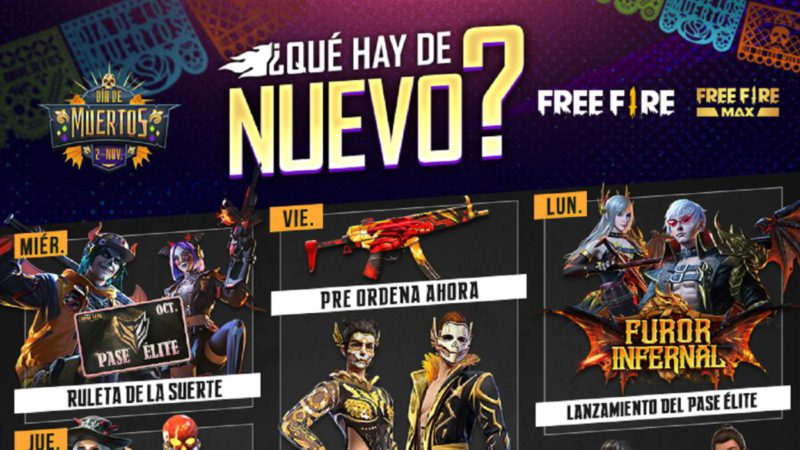 Free Fire: weekly agenda from October 27 to November 2 with Day of the Dead event