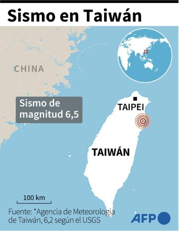 A 6.5 magnitude earthquake shakes northeast Taiwan