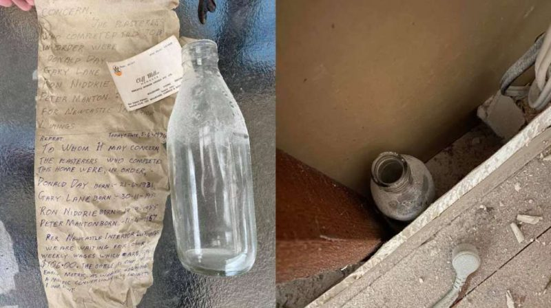 A man discovered a message hidden in a bottle for 47 years and found one of its authors