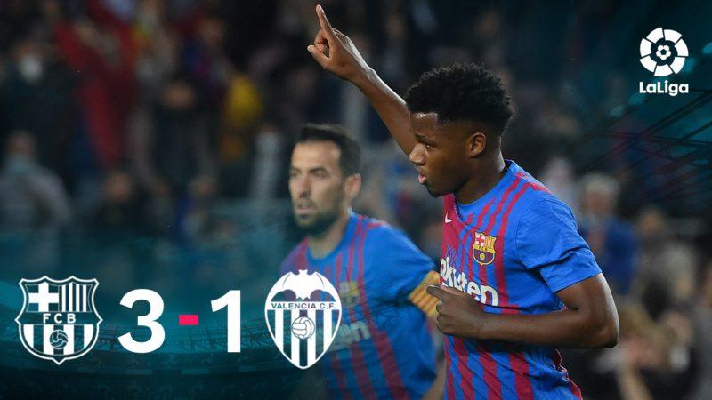 Ansu Fati restores Barça