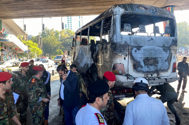 At least 13 killed in explosives attack on military bus in Syria |  International