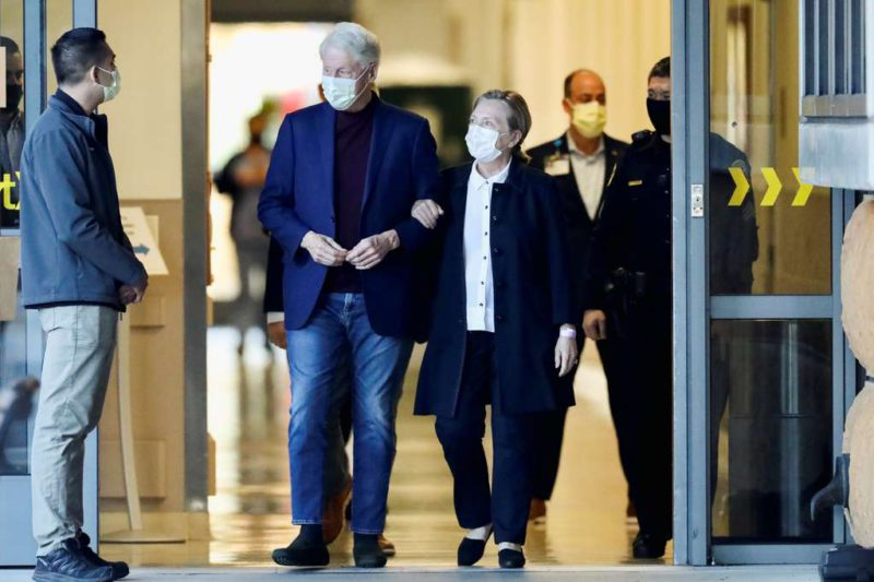 Bill Clinton was discharged after recovering from an infection