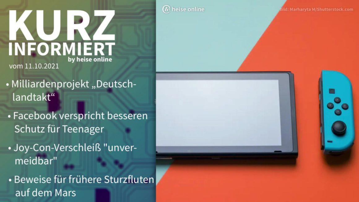 Briefly informed: Deutschlandtakt, Instagram, Joy-Con-Drift, Mars-Rover
