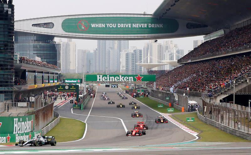 China falls off the record 23 Formula 1 race calendar in 2022