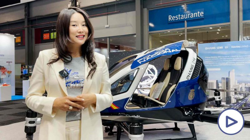 """Jing (Ehang): """"The drone will help to do the missions of the National Police even more efficiently"""""""