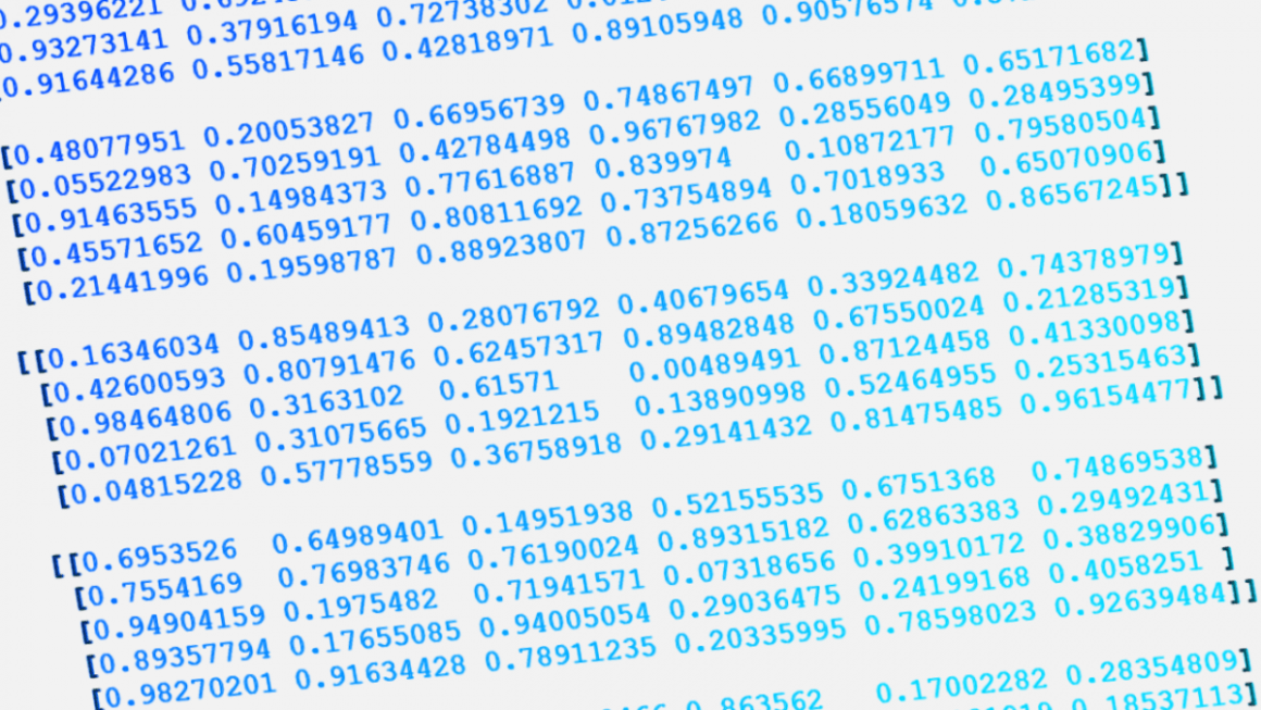 Processing large amounts of data with Python: NumPy for beginners