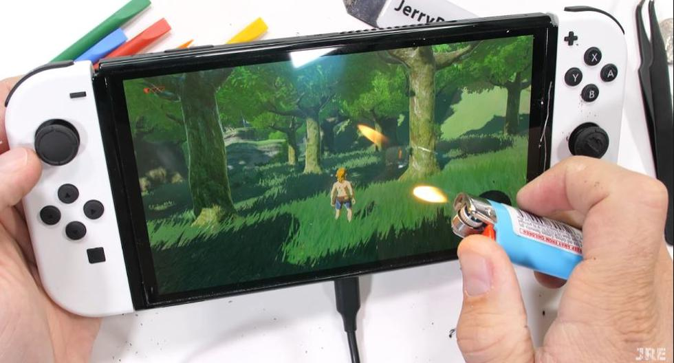YouTuber destroys a Nintendo Switch Oled console to find out how resistant it is - Diario Depor