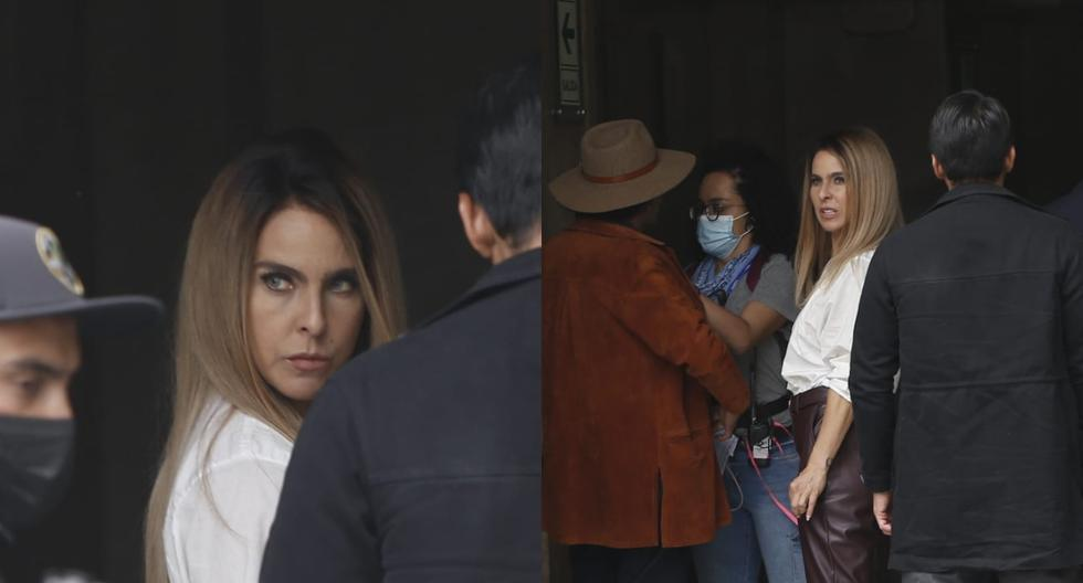 "Kate del Castillo records ""La Reina del Sur 3"" in the surroundings of Plaza San Martín |  PHOTOS - MAG."