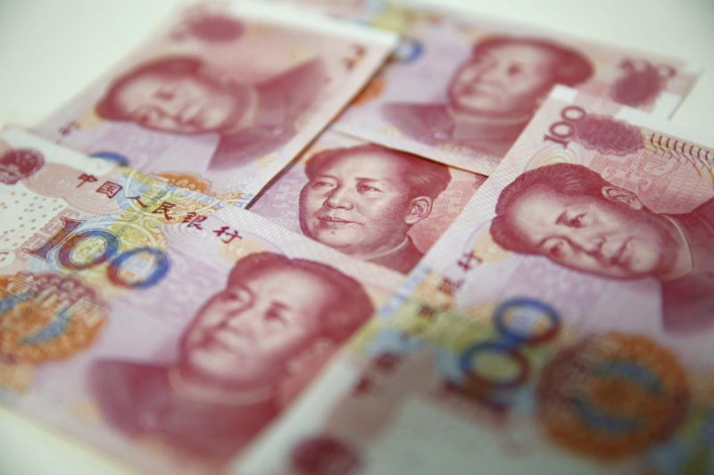 The Chinese yuan, at highs against the dollar since May