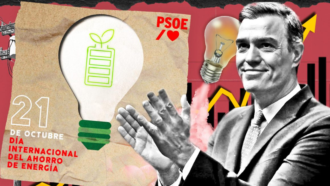 The PSOE celebrates the day of «energy saving» with the Spanish paying the most expensive electricity in history