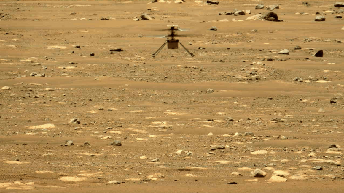 The navigation system of Mars drones is to be improved in a desert
